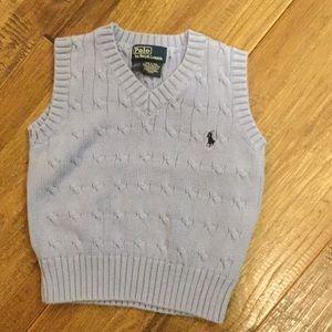 Polo boys sweater vest.